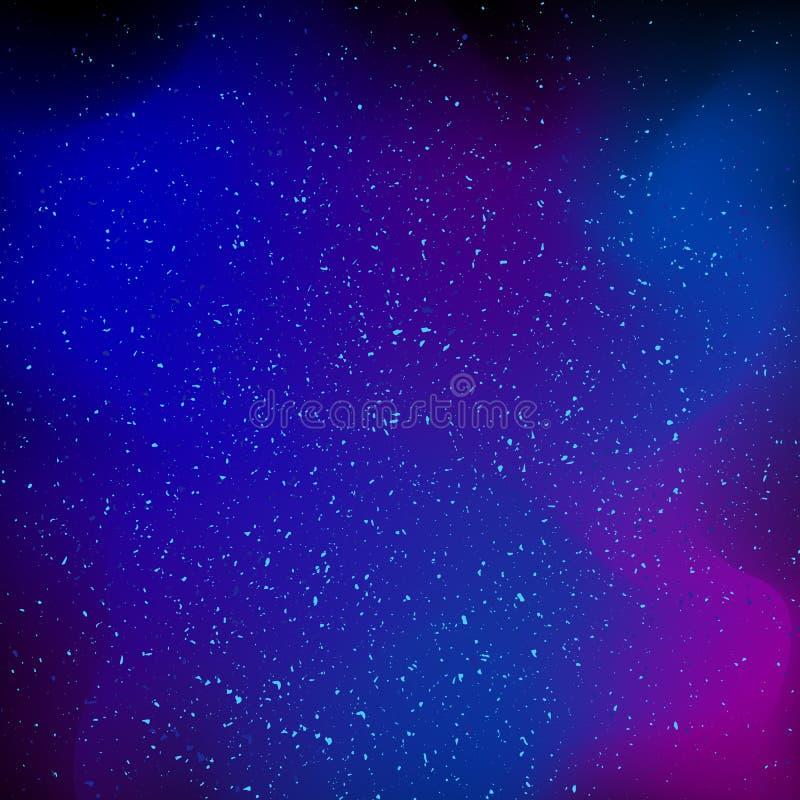 Bright colorful cosmos illustration royalty free illustration