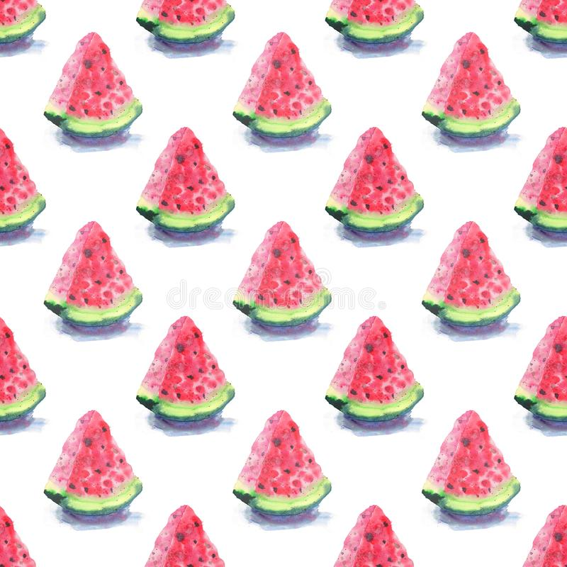 Bright colorful delicious tasty yummy ripe juicy cute red summer autumn fresh dessert slices of watermelon with shadow pattern wat stock photos
