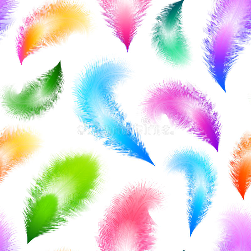 Download Bright Colorful Feathers Seamless Pattern Stock Vector - Illustration of illustration, isolated: 39500327