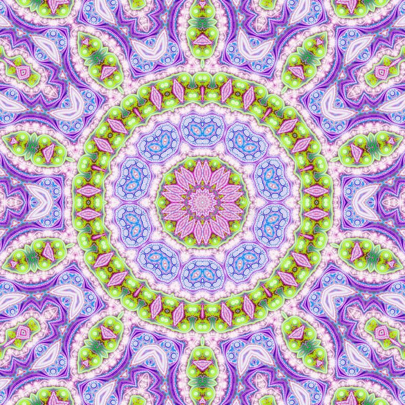 Bright colorful fractal mandala royalty free illustration