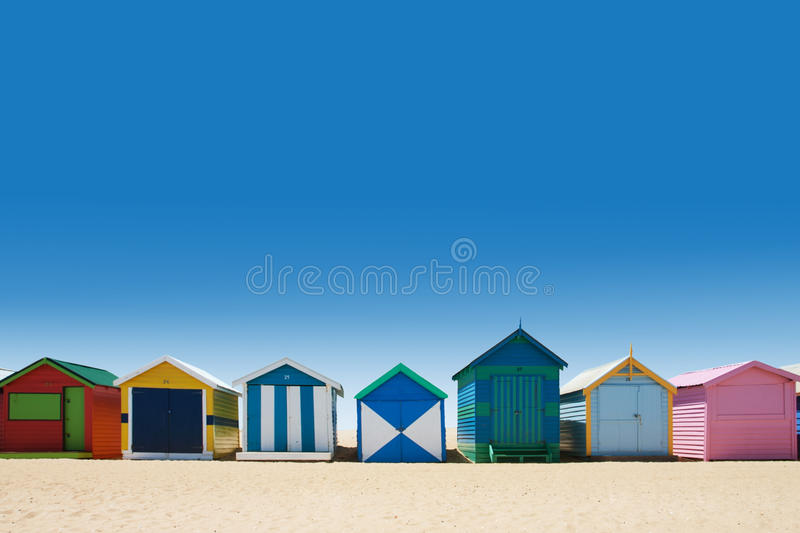 Download Bright And Colorful Houses On White Sand Beach Stock Photo - Image of colorful, melbourne: 28034972