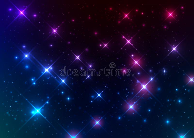 Bright and colorful nebulae. stock photos