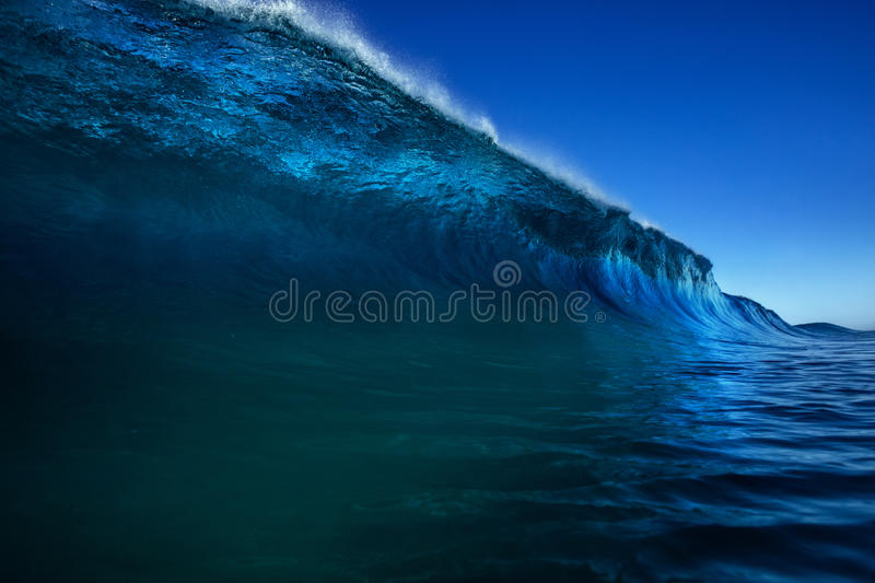 Bright colorful ocean wave sea background stock photo