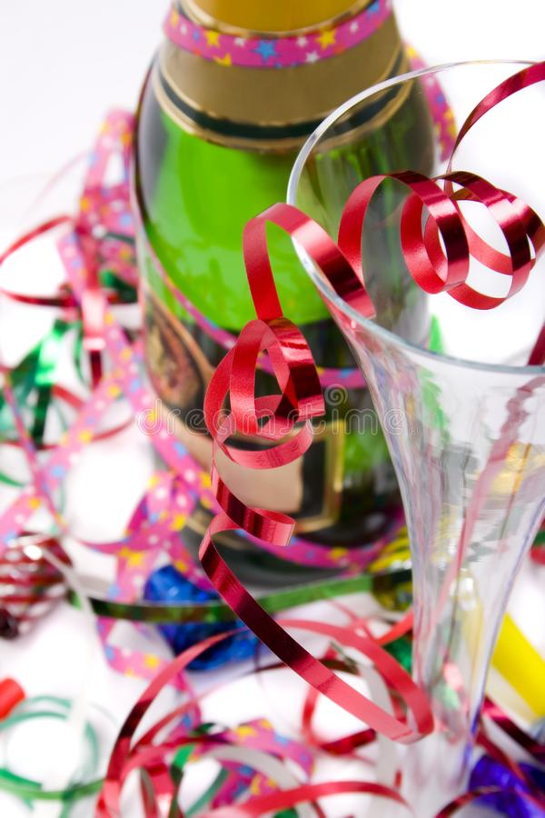 Bright and colorful party scene royalty free stock photo
