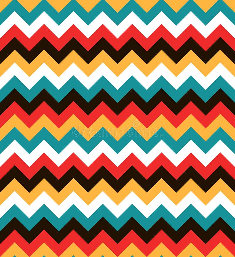 Bright colorful seamless zig zag pattern. Abstract chevron background royalty free illustration