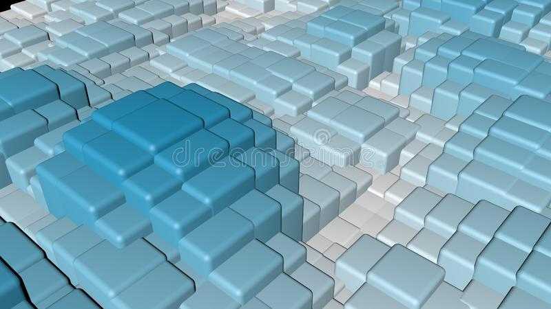 Bright colorful shiny solid squares floating in a wavy shape background vector illustration