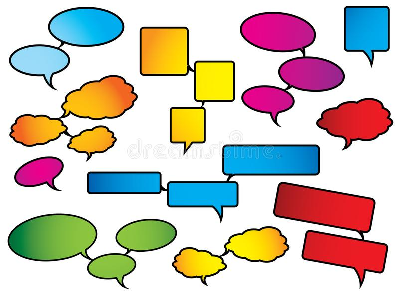 Download Bright And Colorful Speech Bubbles Stock Vector - Illustration of icons, dialog: 9472964