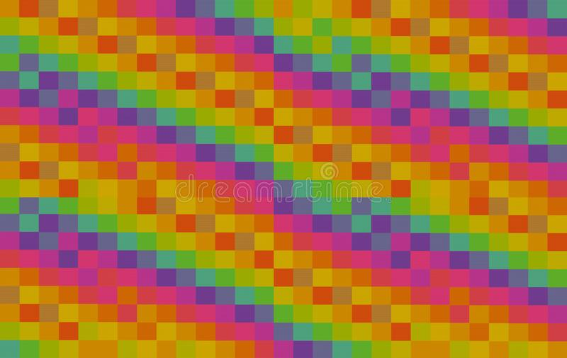 Bright colorful square background abstract texture ribbed pattern multicolored orange pink green blocks design holiday base stock photos