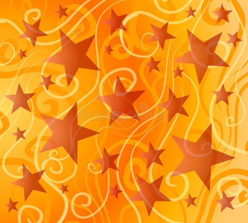 Bright Colorful Stars Pattern stock illustration