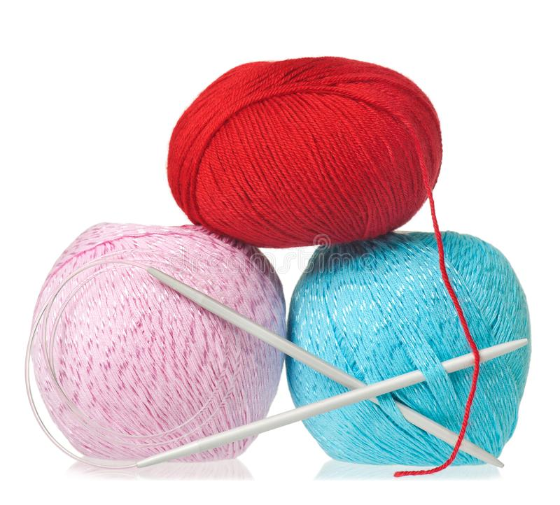 Bright colorful threads royalty free stock images