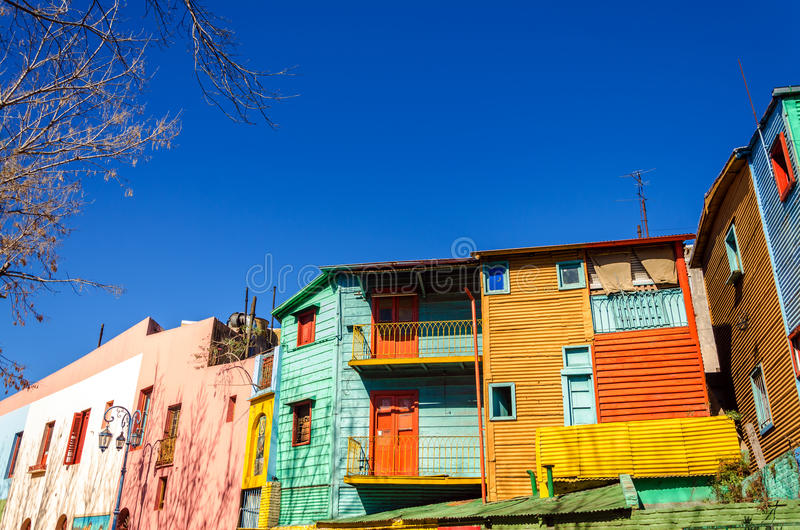 Bright Colors in Buenos Aires royalty free stock photography