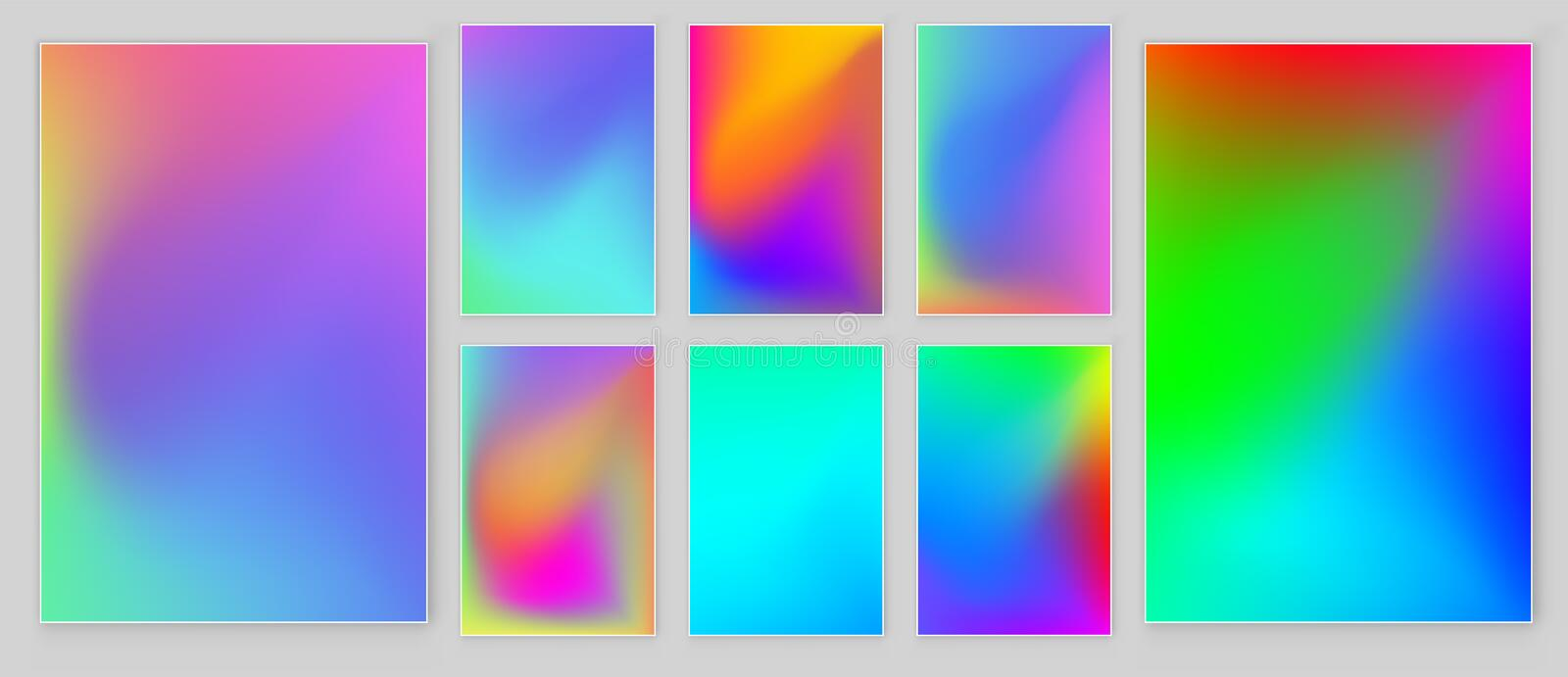 Bright colors gradient abstract background. Vector template. stock illustration