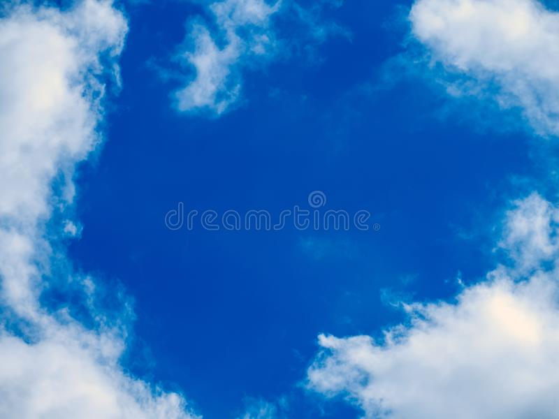 Bright colors, partial clouds royalty free stock photography