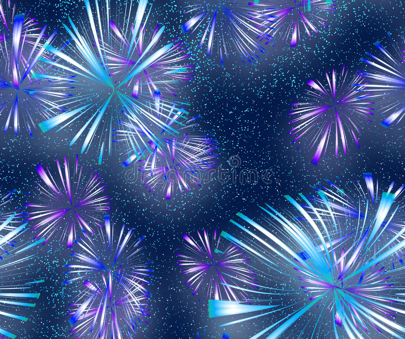 Download Bright colourful Fireworks stock vector. Image of fireworks - 3773935