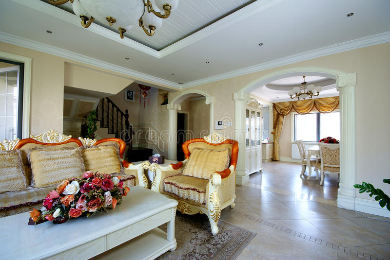 Bright and comfortable house. Bright and comfortable living and dining rooms royalty free stock images