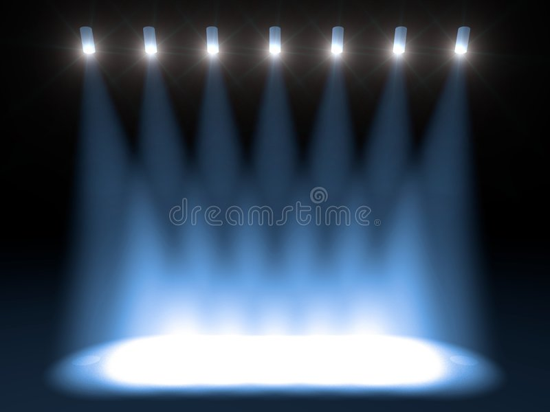 Download Bright Concert Stage Stock Image - Image: 6963291