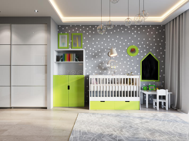 Bright And Cozy Children`s Room In Modern Urban Contemporary Sty ...