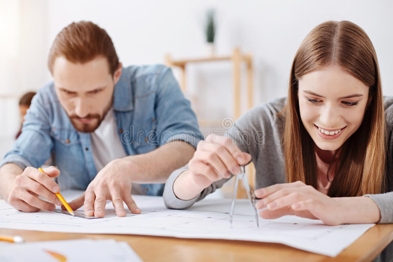 Bright creative colleagues enthusiastic about their new project royalty free stock photo