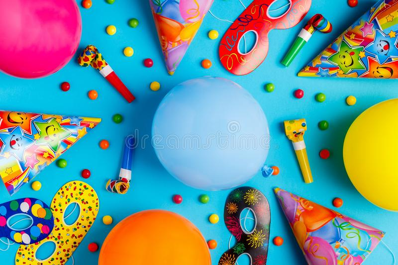 Bright decor for a birthday, party, festival or carnival. royalty free stock photos
