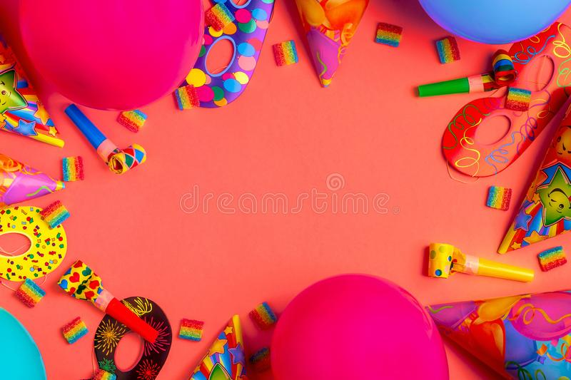 Bright decor for a birthday, party, festival or carnival stock image