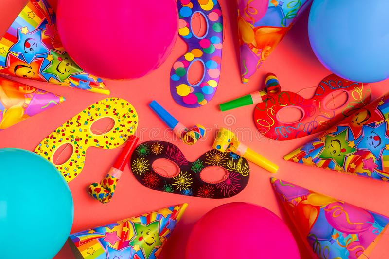 Bright decor for a birthday, party, festival or carnival royalty free stock photo