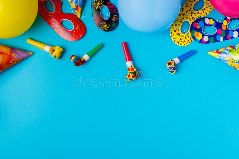 Bright decor for a birthday, party, festival or carnival. stock photo