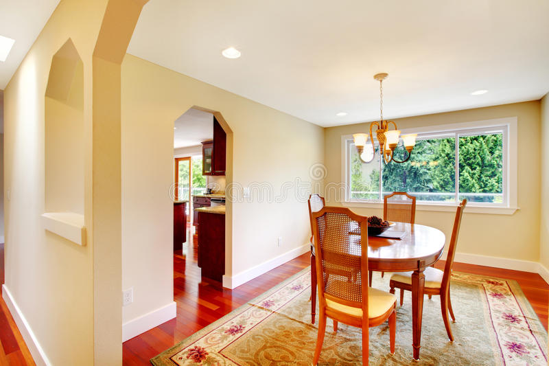 Download Bright Dining Room In Soft Ivory Color Stock Photo - Image: 43063907
