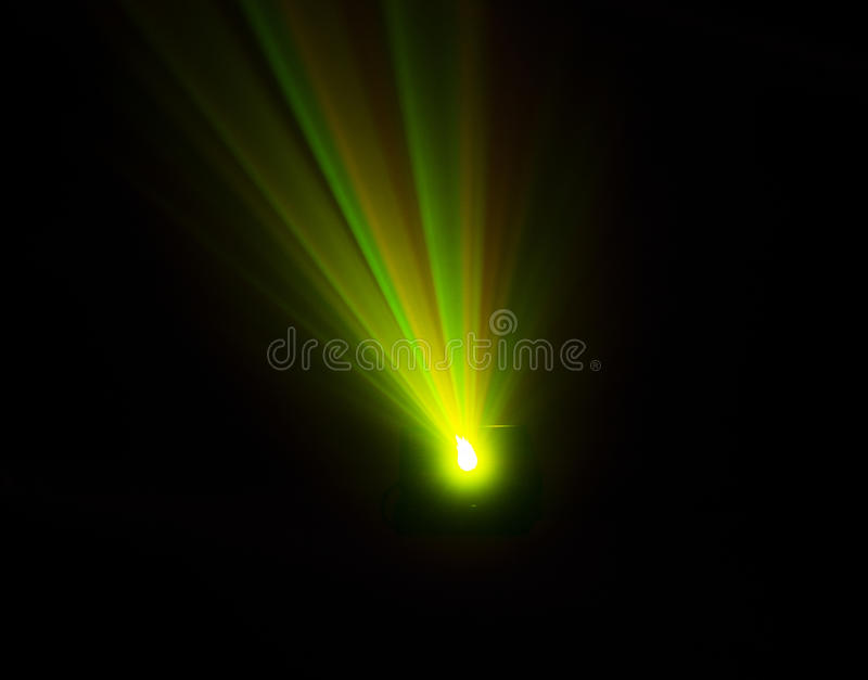 Bright disco lights and lasers royalty free stock photo