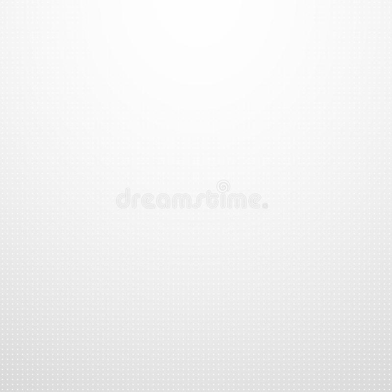 Bright dotted gradient background. White and grey texture - light design.  stock illustration