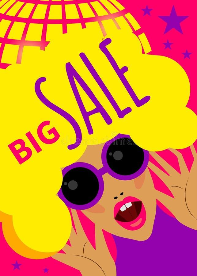 Bright dynamic fashion banner stock illustration
