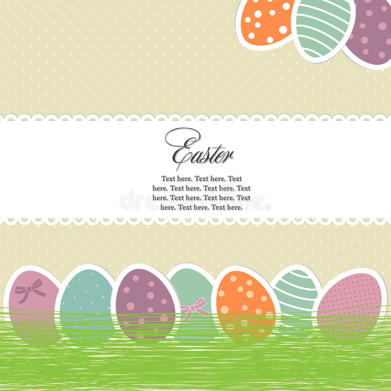 Free Bright Easter Eggs Card Stock Image - 18923191