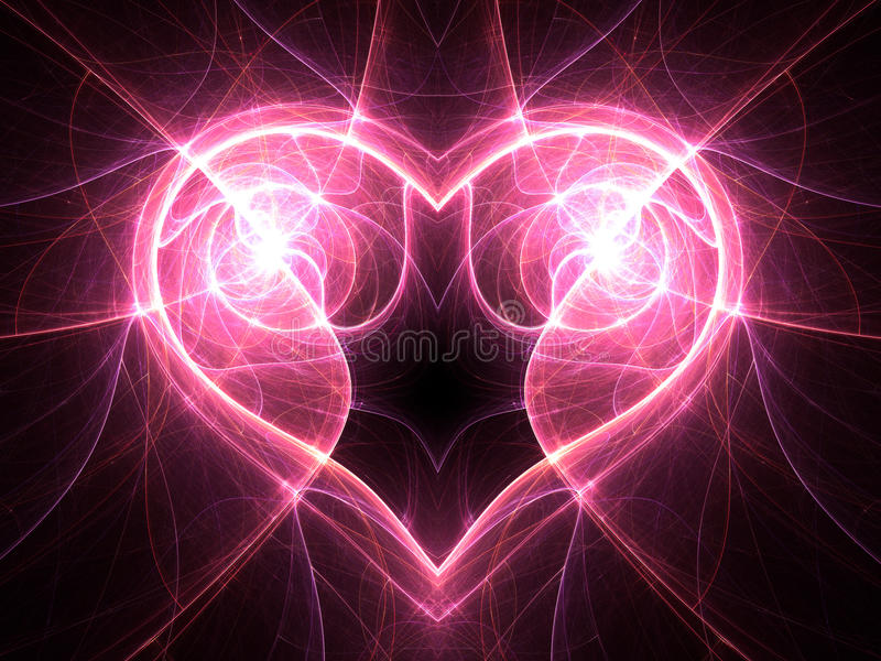Bright electric current heart on black background. Bright electric current heart shape, Valentine's day motive vector illustration
