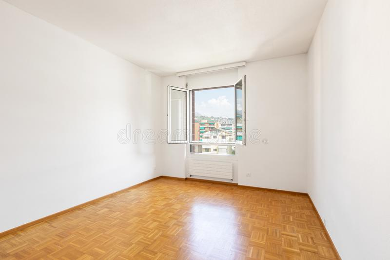 Bright empty room and nice parquet royalty free stock photos