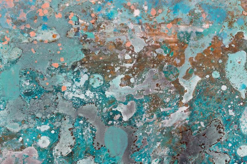 Bright exclusive abstract painting as background. Nlue tone image. royalty free stock photos