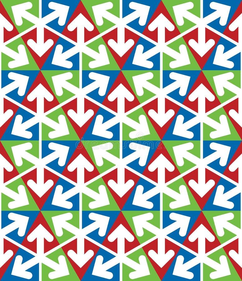 Bright extraordinary geometric seamless pattern vector illustration
