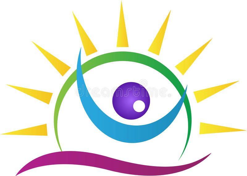 Bright eye vision. A vector drawing represents bright eye vision design stock illustration