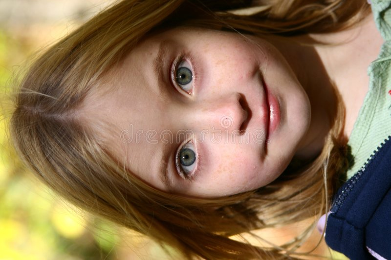 Bright eyed girl royalty free stock images