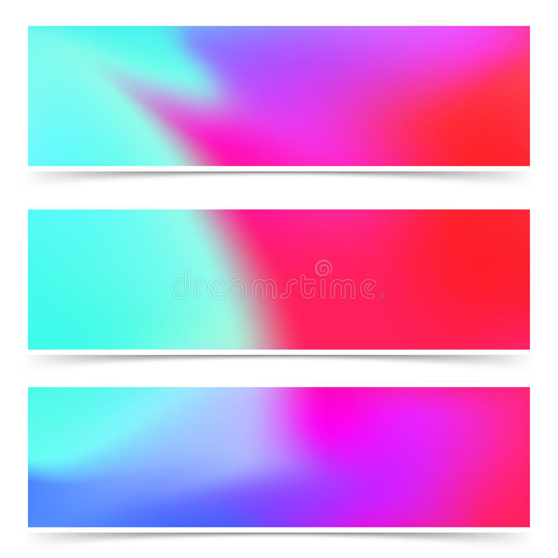 Bright fashion colorful pink and blue web headers flyers collect vector illustration