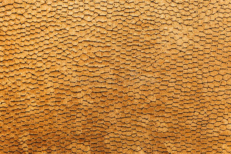 Bright golden texture or background with reptile pattern royalty free stock photos