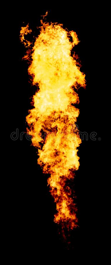 Bright fire trail, flame isolated stock images