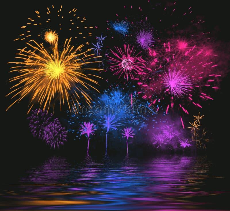Bright firework stock image