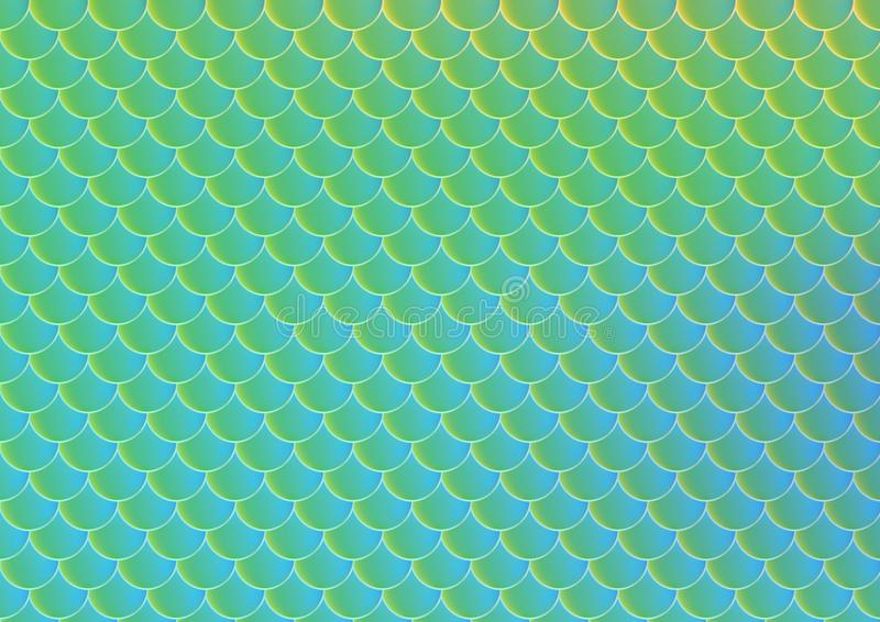 Bright fish scale vector seamless pattern. vector illustration