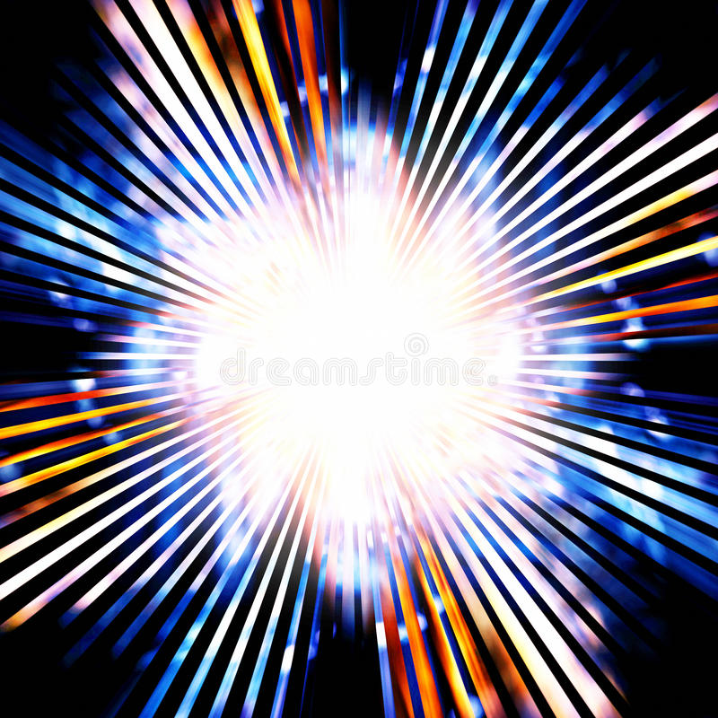Bright flash stock illustration