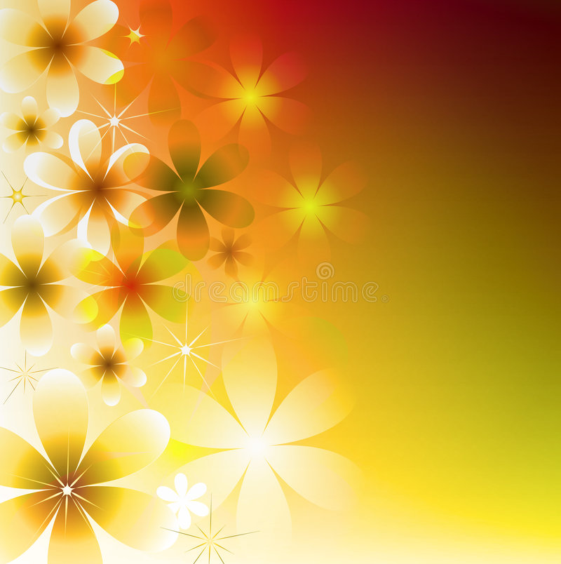 Bright Floral Background royalty free illustration