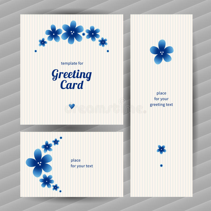 Bright floral card with simple flowers. vector illustration