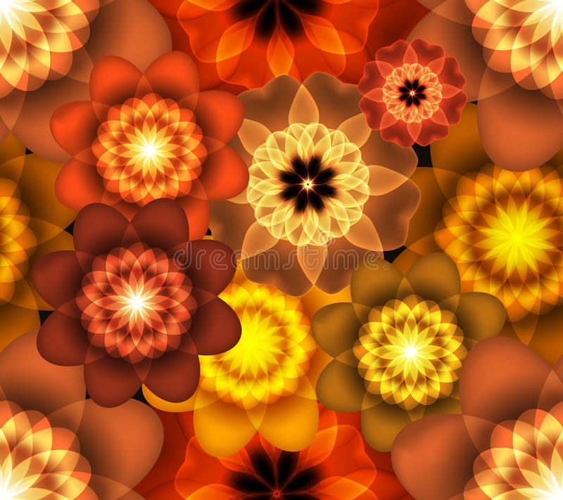 Bright Floral Wallpaper Stock Image