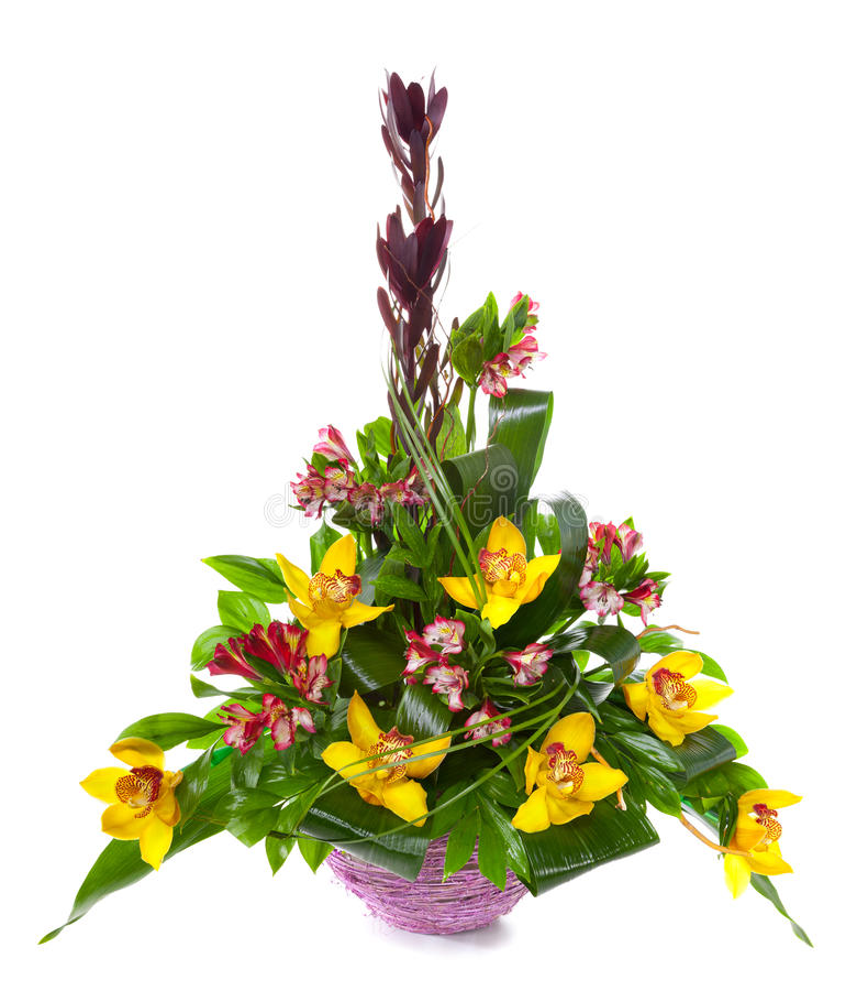 Bright flower bouquet stock image