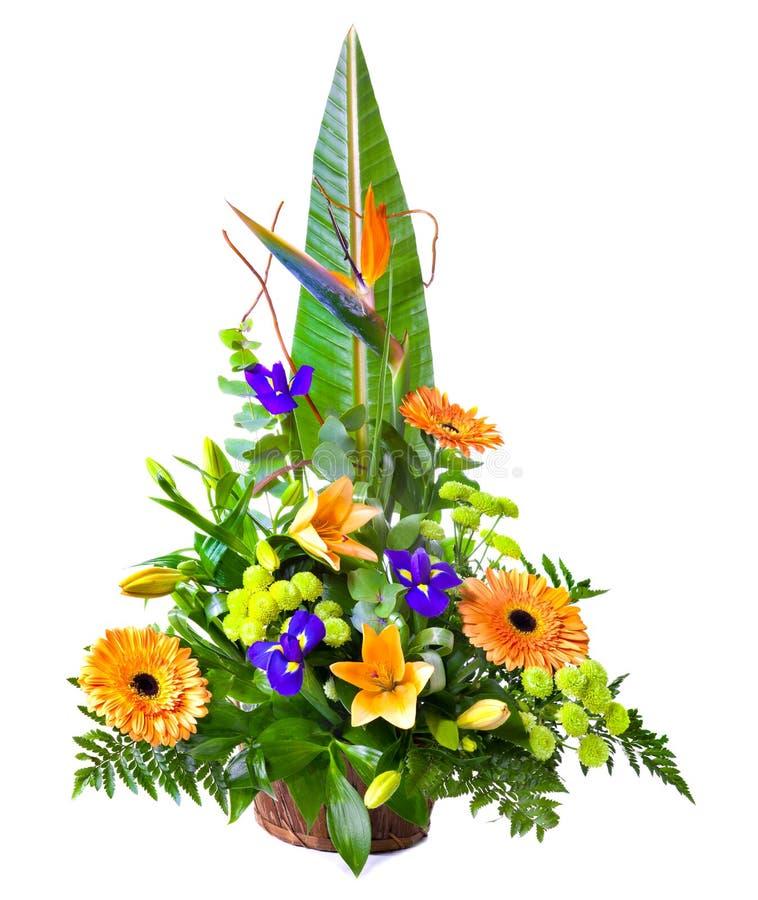 Bright flower bouquet stock photo