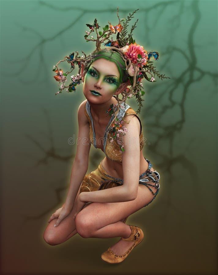 Bright Flower Fairy, 3d CG ilustracji