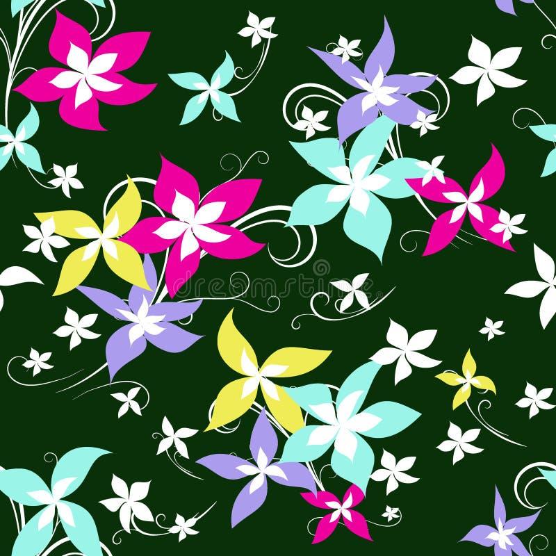 Bright flowers stock illustration